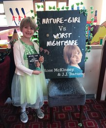 Rose McKinney with Nature-Girl Vs Worst Nightmare, child author