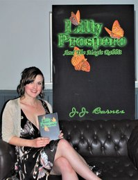 JJ Barnes at the Lilly Prospero And The Magic Rabbit book release party