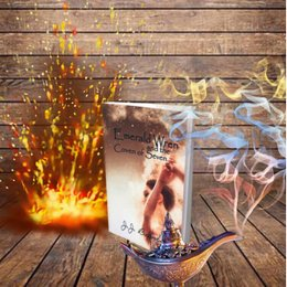 Emerald Wren And The Coven Of Seven book art fire magic lamp three wishes genie book by JJ Barnes