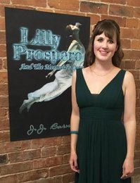 JJ Barnes at the Lilly Prospero And The Mermaid's Curse book release party